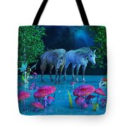 The First Time We Saw Horses Tote Bag