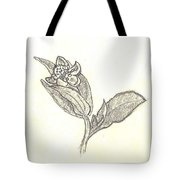 The First Wildflower Of Spring Field Sketch Tote Bag