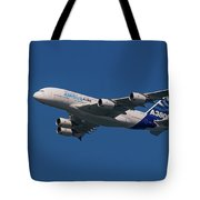 The Firts Airbus A380 Tote Bag