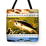 The Fish Stamps Tote Bag by Lanjee Chee