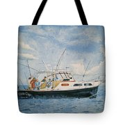 The Fishing Charter - Cape Cod Bay Tote Bag