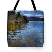 The Fishing Rock On Limekiln Tote Bag