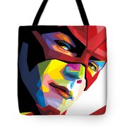 The Flash Colorful Pop Art Tote Bag