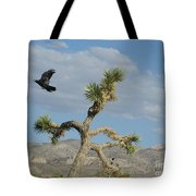 The Flight Of Raven. Lucerne Valley. Tote Bag