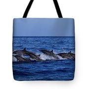 The Flight Of The Spinner Dolphin Tote Bag