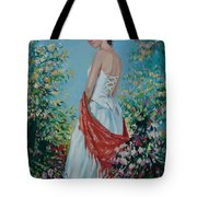 The Florist In A Red Kerchief Tote Bag
