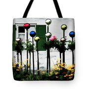 The Flowers And The Balls Tote Bag