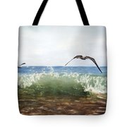 The Flying Instant Of Surf Tote Bag