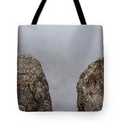 The Fog Through The Rocks Tote Bag