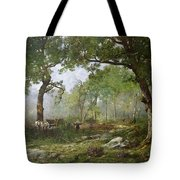 The Forest Of Fontainebleau Tote Bag by Leon Richet