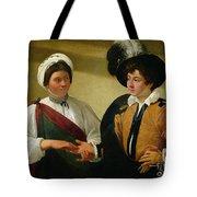 The Fortune Teller Tote Bag by Michelangelo Merisi da Caravaggio