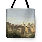 The Forum Seen From The Farnese Gardens Tote Bag by Jean Baptiste Camille Corot