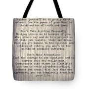 The Four Agreements 6 Tote Bag
