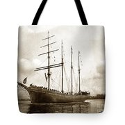 The Four-masted Barkentine  Jane Stanford Built By Hans Bendixse 1892 Tote Bag