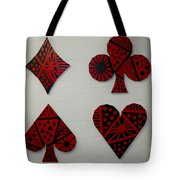 The Four Suits Tote Bag