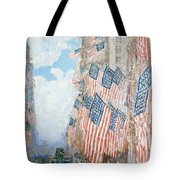 The Fourth Of July Tote Bag by Childe Hassam