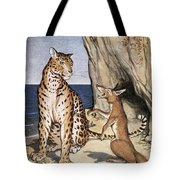 The Fox And The Leopard Tote Bag