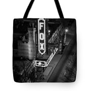 The Fox Thearter Bw Atlanta Night Art Tote Bag