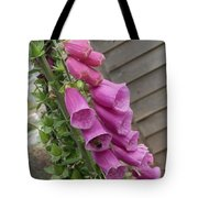The Foxglove And The Bumble Bees Tote Bag
