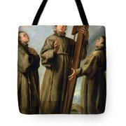 The Franciscan Martyrs In Japan Tote Bag by Don Juan Carreno de Miranda