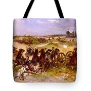 The Fray Of Battle Tote Bag