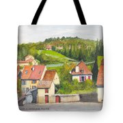 The French Village Of Billy In The Auvergne Tote Bag