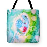 The Frog And Flower Tote Bag