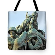 The Front Up Close -- The Iwo Jima Monument Tote Bag