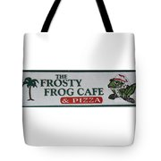 The Frosty Frog Cafe Sign Tote Bag