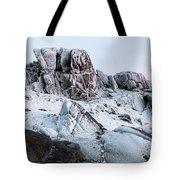 The Frozen Peak Of Bearnagh Tote Bag