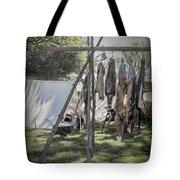 The Fur Trader's Camp 1812 Tote Bag