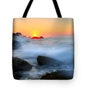 The Fury Of The Sea Tote Bag