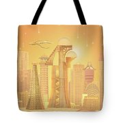 The Future Is Golden Tote Bag