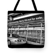 The Future Is Not For Sale Tote Bag