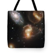 The Galaxies Of Stephans Quintet Tote Bag