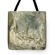 The Gambols Of Ghosts According With Their Affections Previous To The Final Judgement Tote Bag