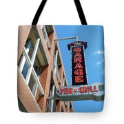 The Garage Pub Tote Bag