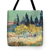 The Garden At Arles  Tote Bag by Vincent Van Gogh