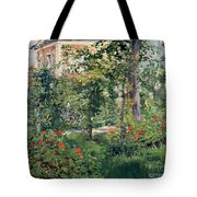 The Garden At Bellevue Tote Bag by Edouard Manet