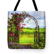 The Garden At The Winery Tote Bag