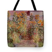The Garden At Vetheuil Tote Bag