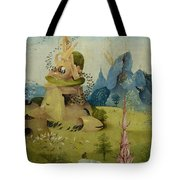 The Garden Of Earthly Delights, Detail Of Left Panel Showing Paradise Tote Bag