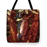 The Garden Of The Heserides 1877 Tote Bag