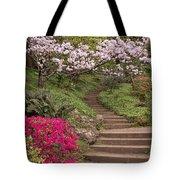 The Garden Steps Tote Bag