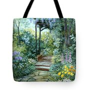 The Garden Triptych Right Side Tote Bag
