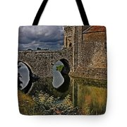 The Gatehouse And Moat At Leeds Castle Tote Bag