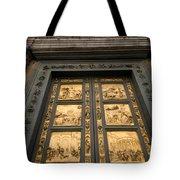 The Gates Of Paradise Doors Tote Bag