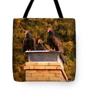 The Gathering Of Vultures Tote Bag