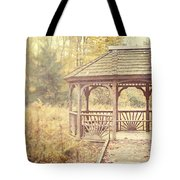 The Gazebo In The Woods Tote Bag by Lisa Russo