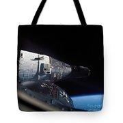 The Gemini 7 Spacecraft In Earth Orbit Tote Bag